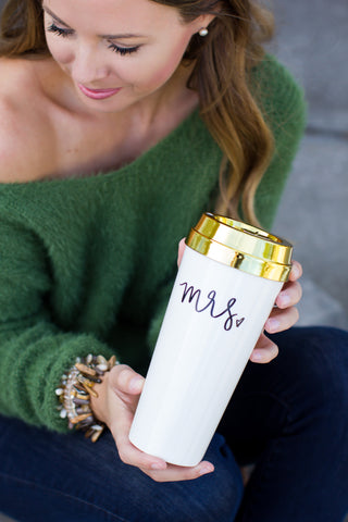 Mrs. Travel Mug - A Cut Above Boutique