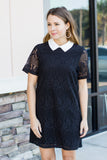Get Classy Collar Shift - Black - A Cut Above Boutique
