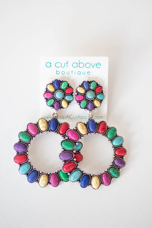 Keri Multi Earring - A Cut Above Boutique