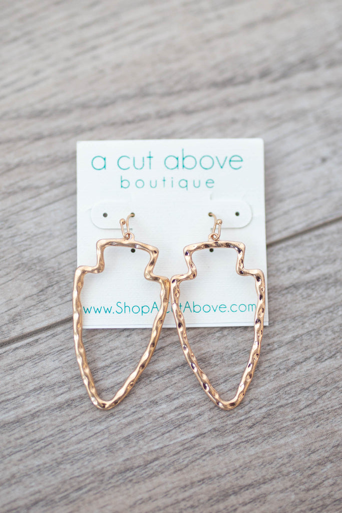 Gold Arrow Earring - A Cut Above Boutique