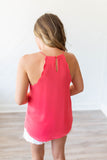Scallop Tank - Coral - A Cut Above Boutique