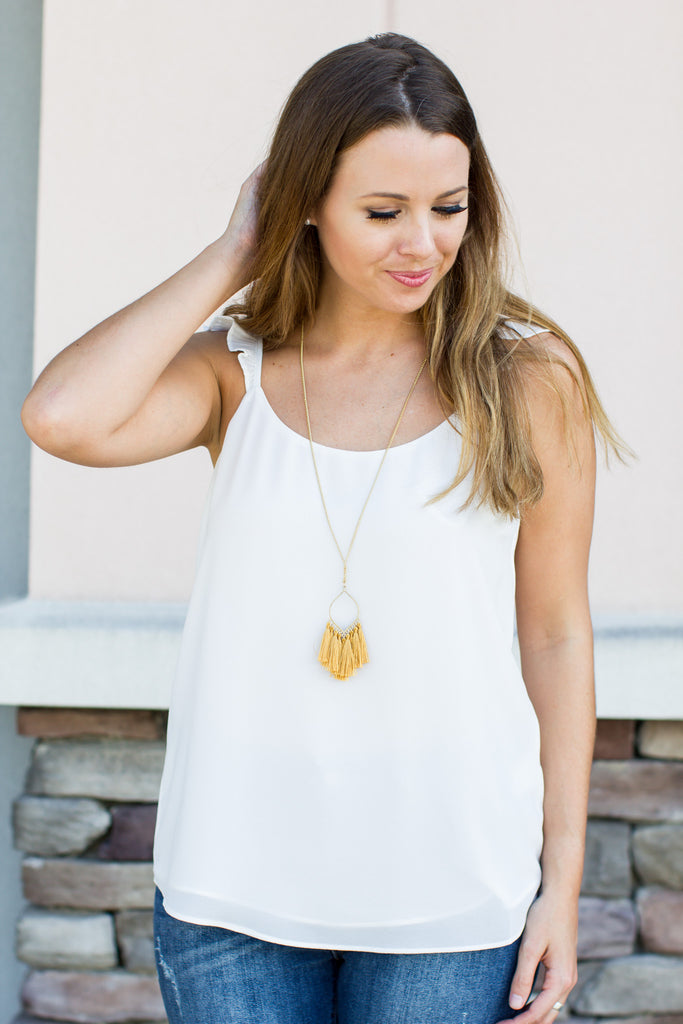 Gameday Tassel Necklace - Gold - A Cut Above Boutique