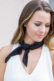 Midnight Black Bandanna - A Cut Above Boutique