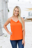 Ruffle Up Pretty Tank - Orange - A Cut Above Boutique