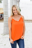 Ruffle Up Pretty Tank - Orange