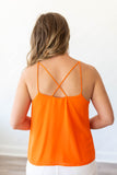 Take It Scallop Tank - Orange - A Cut Above Boutique
