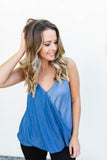 Mixed Feelings Cami - Chambray - A Cut Above Boutique