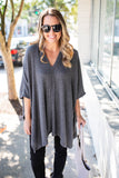 City Dreamer Poncho - Charcoal - A Cut Above Boutique