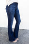Petite Fit Flare Jeans - Dark Wash