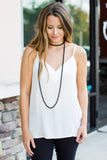 Black Beaded Necklace - A Cut Above Boutique