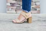 All Year Open Toe Heel - Nude - A Cut Above Boutique