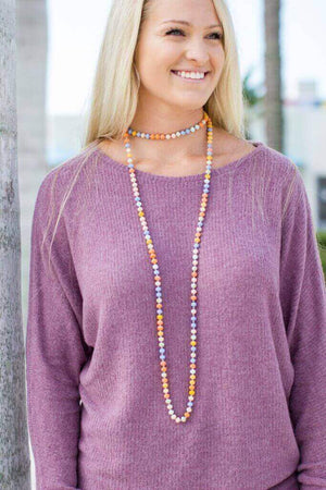 Multi Beaded Necklace - A Cut Above Boutique