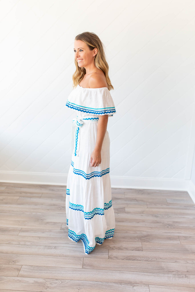 Dance Into The Night Maxi - White - A Cut Above Boutique