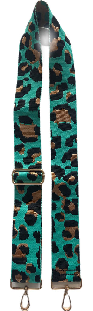 "AHDORNED - LEOPARD PRINT 2"" ADJUSTABLE BAG STRAPS-BRIGHTS!"