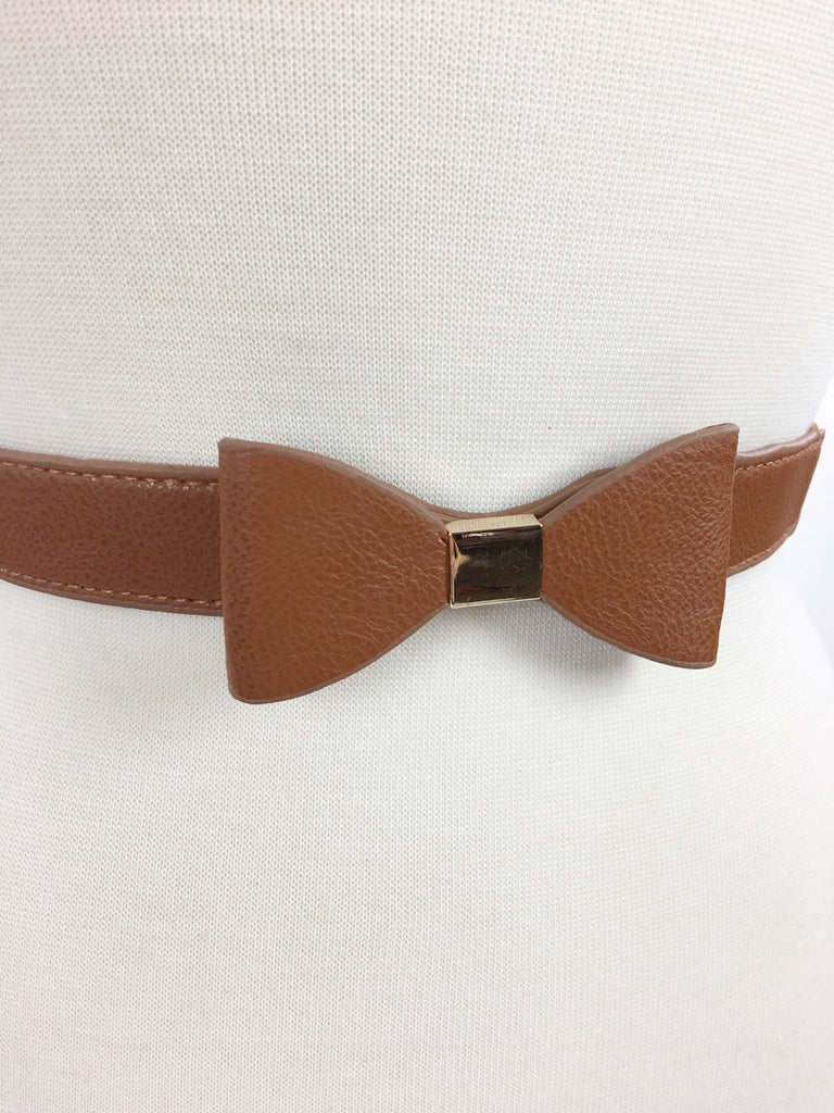 Bow Belt - Cognac - A Cut Above Boutique