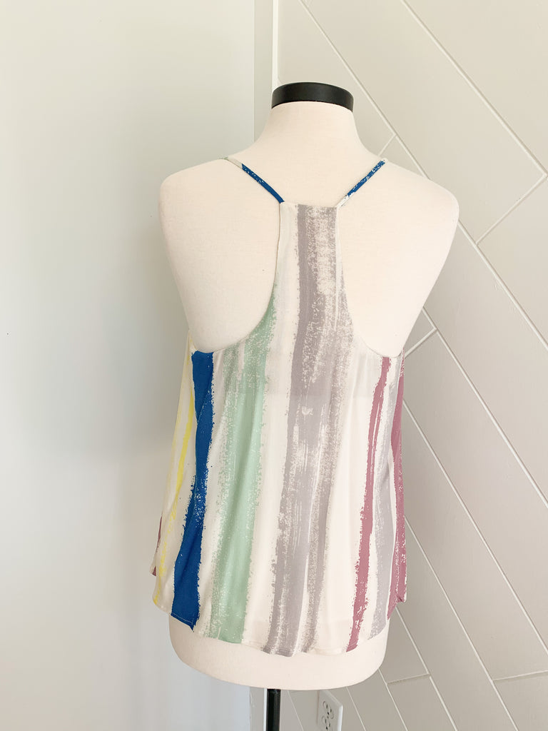 Stripe Me Down Tank - Multi - A Cut Above Boutique