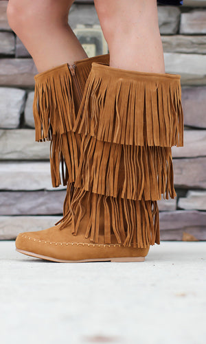 3 Layer Fringe Boot - ShopACutAbove
