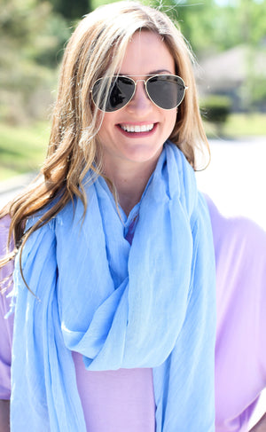 West Coast Scarf – Blue - A Cut Above Boutique