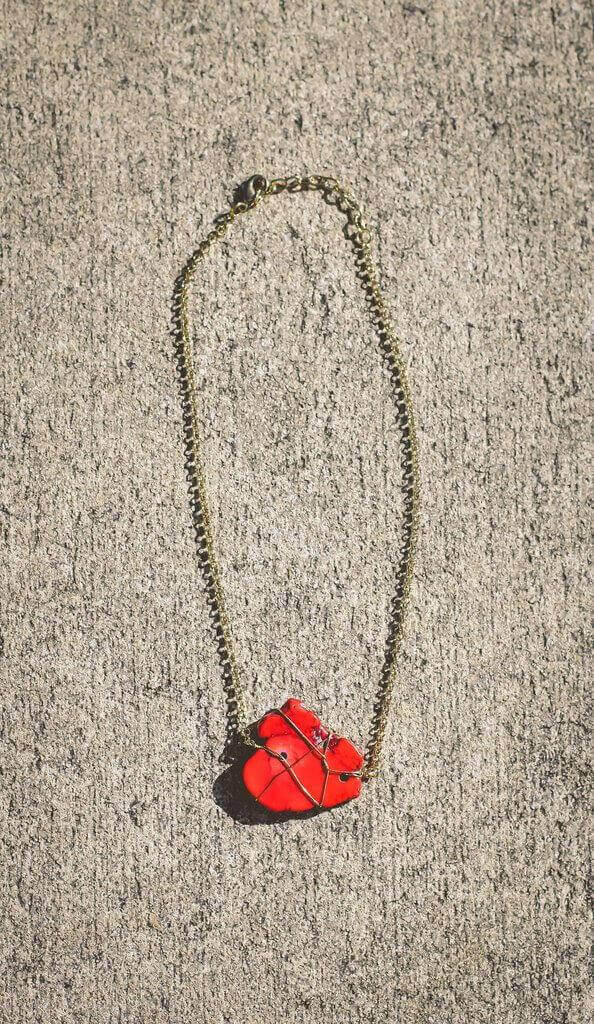 Stone Cold Necklace – Red - ShopACutAbove