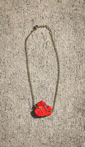 Stone Cold Necklace – Red - A Cut Above Boutique