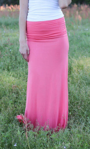 Feel Good Maxi Skirt – Coral - A Cut Above Boutique