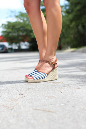 Nautical Espadrille Wedges - A Cut Above Boutique
