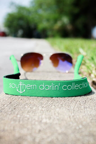 Southern Darlin' Sunglass Strap –  Kelly Green