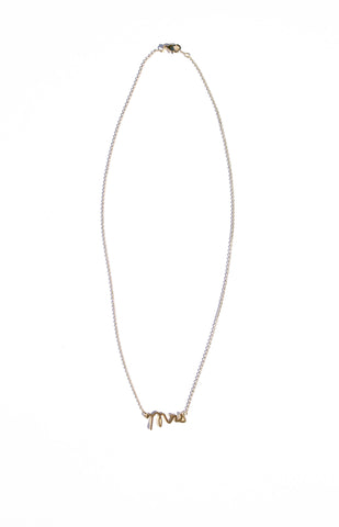 MRS. Necklace - Gold - A Cut Above Boutique