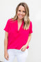 Around We Go Blouse - Fuchsia