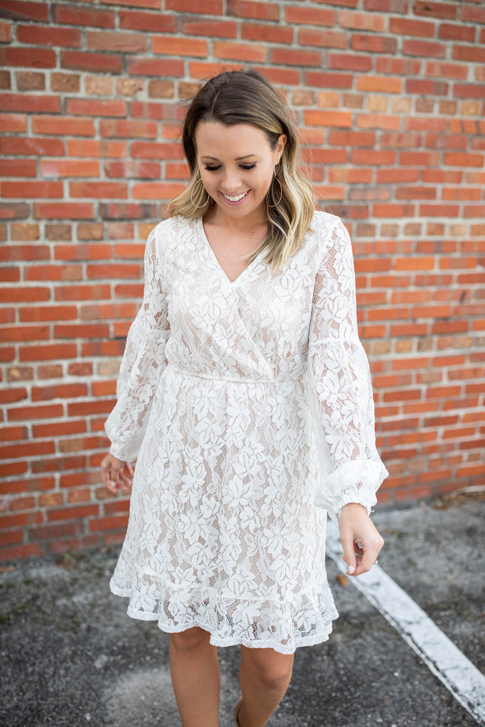From Miss To Mrs. Lace Dress - A Cut Above Boutique