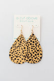 Leather Cheetah Earring - A Cut Above Boutique