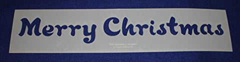 Merry Christmas Holiday Stencil- Painting /Crafts/ Templates