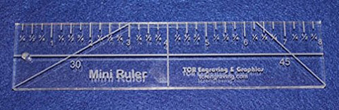"8"" Mini Ruler --Template ~3/8""- Clear Acrylic - Quilting/sewing"