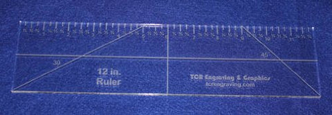 "12"" Ruler --Template 1/4""- Clear Acrylic - Quilting/sewing"