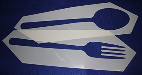 Fork and Spoon Stencil 2 Piece Set -14 Mil Mylar Quilting/ Sewing/ Painting/stencil/templates