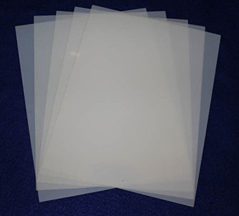 "Mylar 5 Pieces of 14 Mil 8 1/2""x11"" Blank Sheets - Quilting / Sewing / Stencil/templates"