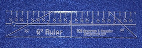 "6"" Ruler - 1/4"" thick. Quilting/Sewing Clear Acrylic - Quilting/sewing"