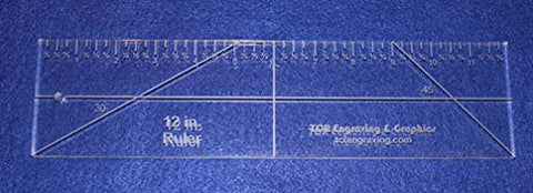 "12"" Ruler --Template -3/8""- Clear Acrylic - Quilting/sewing"