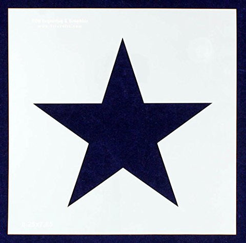 "Single Star Stencil 14 Mil -10.5"" X 10.5"" Overall - Painting /Crafts/ Templates"