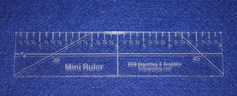 "8"" Mini-Ruler. Acrylic ~1/4"" thick. Quilting/Sewing"