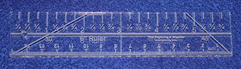 "6"" Mini Ruler Imperial/metric Template ~1/4""- Clear Acrylic - Quilting/sewing"