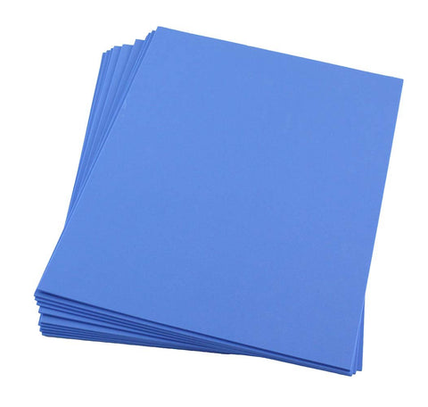 "Craft Foam -9"" x 12"" Sheets-Royal Blue-10 Pack- 2mm thick"