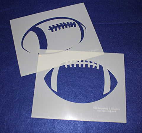 "Football Stencils L Mylar 2 Pieces of 14 Mil 8"" X 10"" - Painting /Crafts/ Templates"