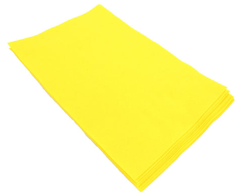 Fiesta Felt- 12x18- 10 Pieces- 100% Acrylic- Yellow