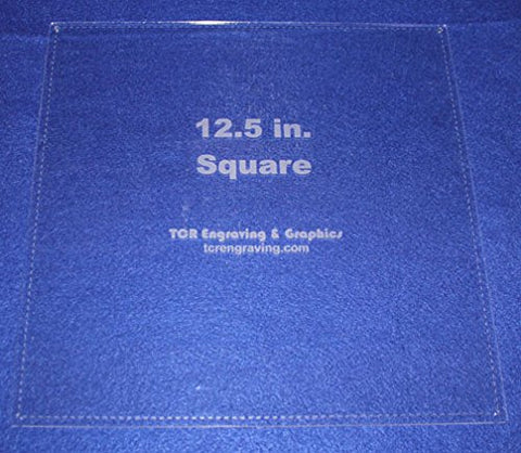 "Square Template 12.5"" with Seam Allowance - Clear 1/8"" 60 Degree"