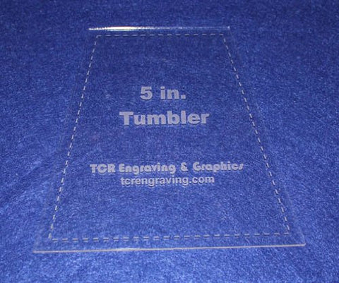 "5"" Tumbler Quilt Template - With Seam Allowance -Clear 1/8"" Acrylic"
