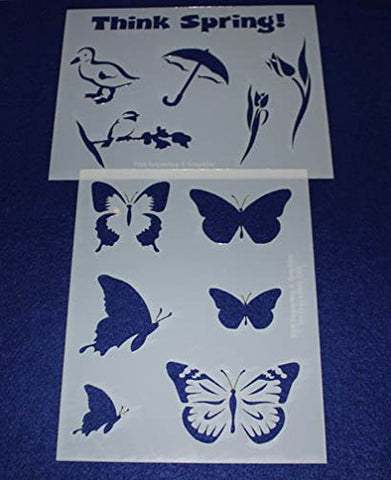"Mylar 2 Pieces of 14 Mil 8"" X 10"" Spring Stencils- Painting /Crafts/ Templates"