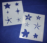 "Mylar 2 Pieces of 14 Mil 8"" X 10"" Star Stencils- Painting /Crafts/ Templates"