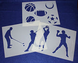 Sports Stencils- 3 Piece Set -14 Mil Mylar