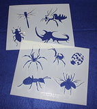 "Mylar 2 Pieces of 14 Mil 8"" X 10"" Bug Stencils- Painting /Crafts/ Templates"
